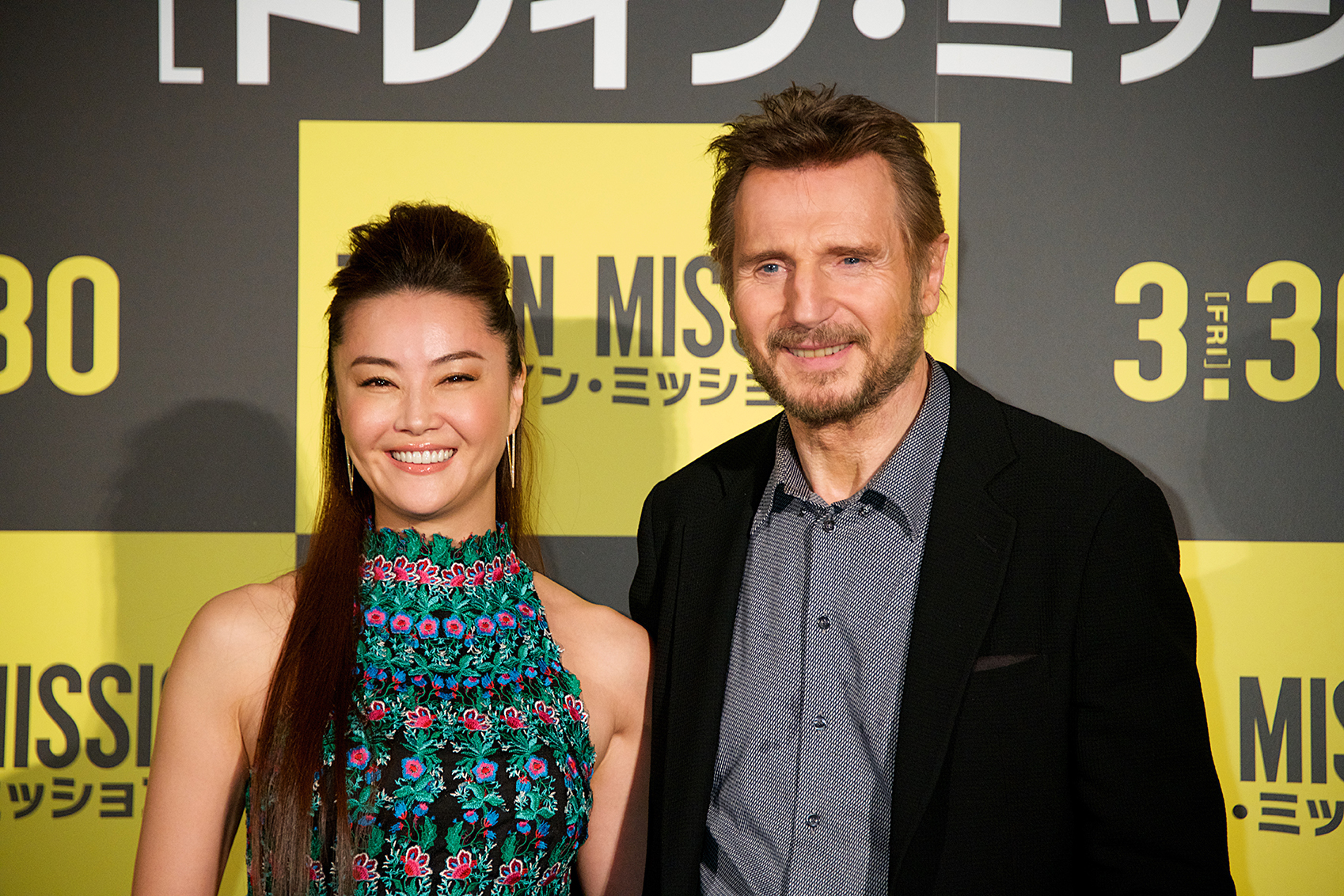 Liam Neeson Promotes 'The Commuter' in Japan