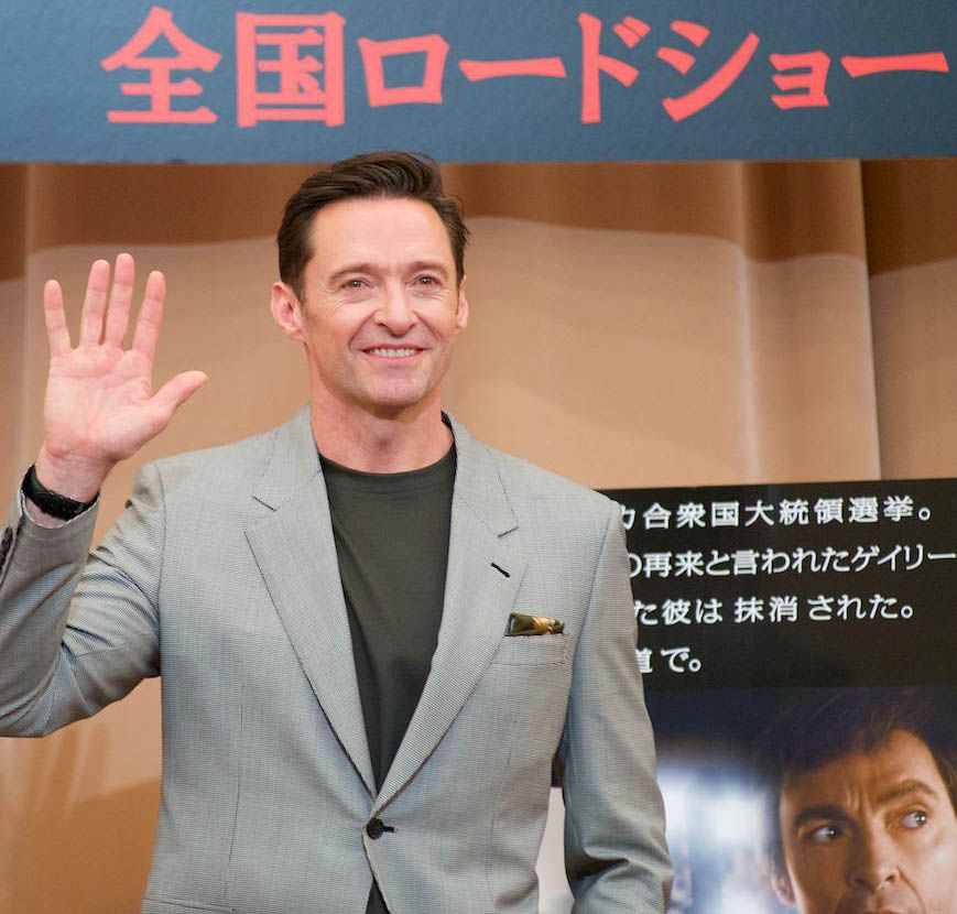 Hugh Jackman Attends 'The Front Runner' Press Conference in Tokyo