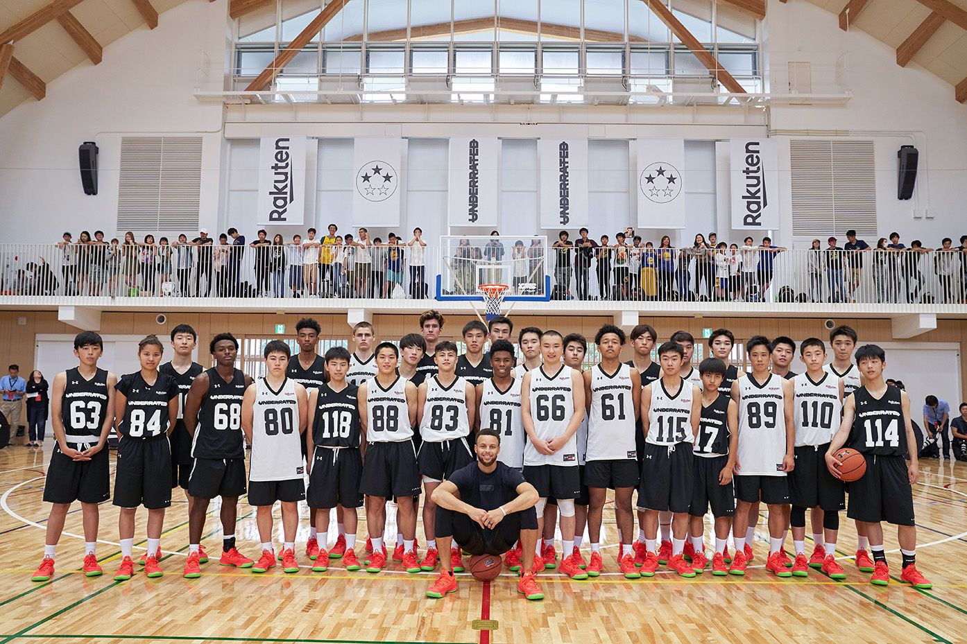 Stephen Curry Imparts Skills Training to Japanese High School Athletes