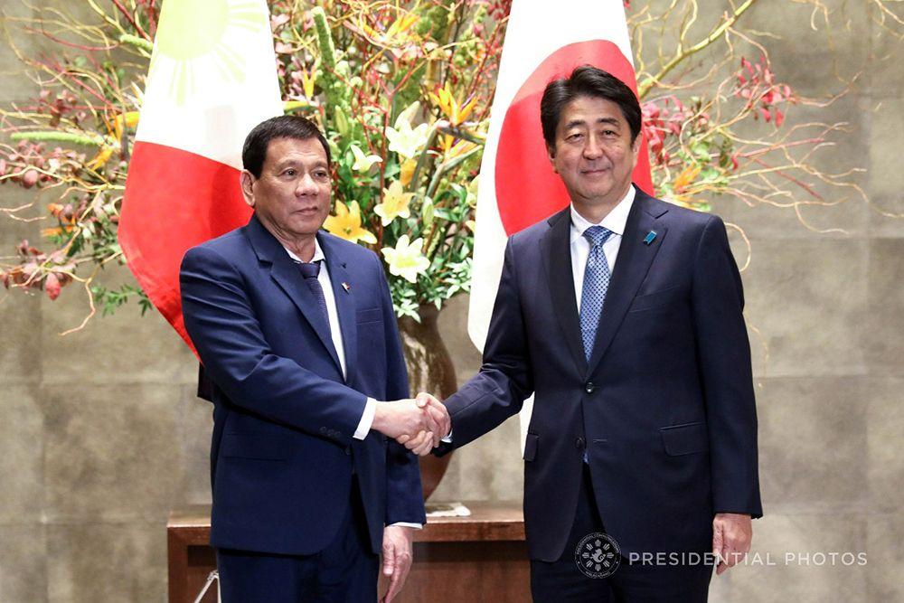 Duterte Thanks Abe for Strengthening PH-Japan Strategic Partnership