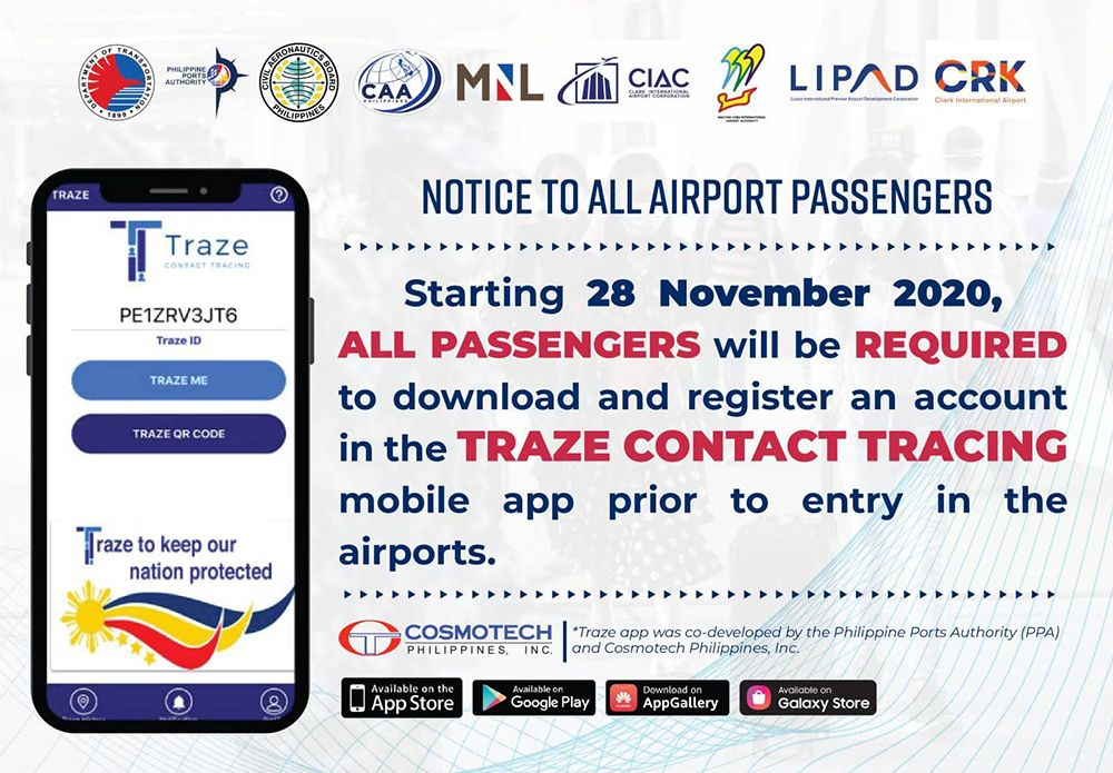 PH Requires All Inbound Travelers to Register Through COVID-19 Contact Tracing App