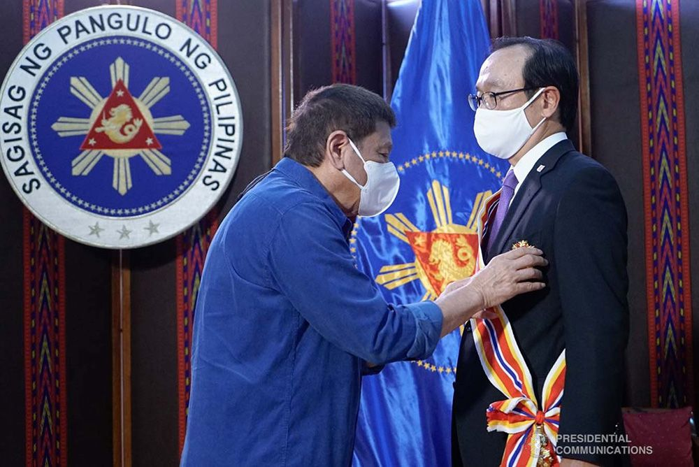 Duterte Confers Highest National Honor for Foreigners on Outgoing Japanese Ambassador