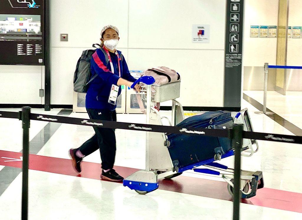 Hidilyn Diaz Arrives in Tokyo